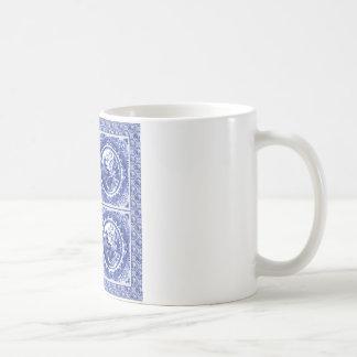 青および白い、ヤナギパターンデザイン コーヒーマグカップ