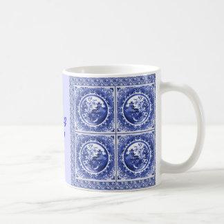 青および白い、私は青を感じています! コーヒーマグカップ
