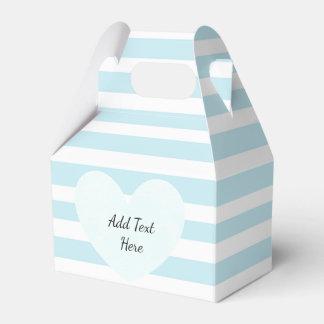 青および白くストライプのなキャンデーの御馳走箱