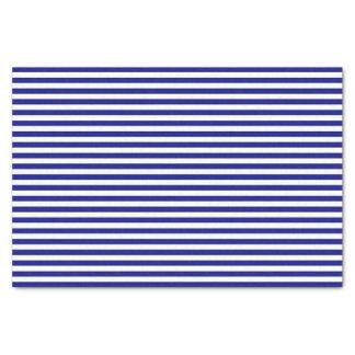 青および白くストライプのなティッシュペーパー 薄葉紙