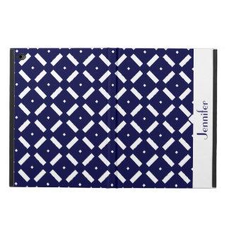 青および白く幾何学的なパターンiPadの空気2箱 Powis iPad Air 2 ケース