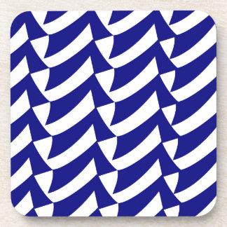 青および白の点検 コースター