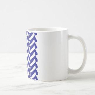 青および白の点検 コーヒーマグカップ
