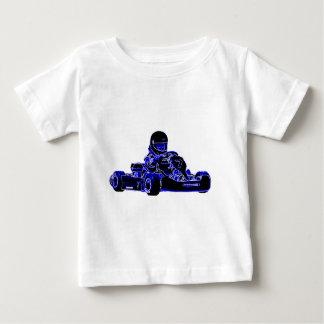 青および白を競争させるKart ベビーTシャツ