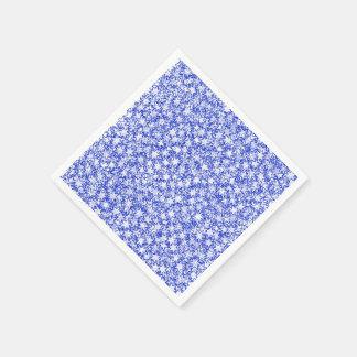 青および白団結心のスポーツ色を主演します スタンダードカクテルナプキン