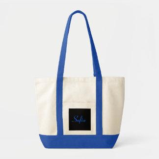 青および白Iのソフィア トートバッグ