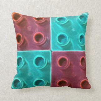 青および紫色のブロック クッション