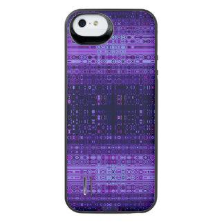 青および紫色の抽象芸術 iPhone SE/5/5sバッテリーケース