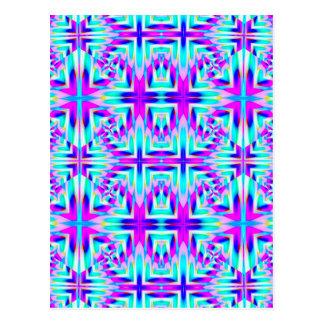 青および紫色の激賞の壁紙 ポストカード