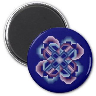 青および紫色の熱狂するな円の磁石 マグネット
