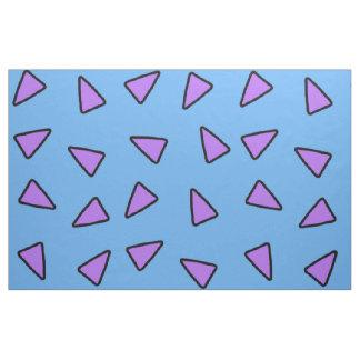 青および紫色Rockoのスタイルの幾何学的な三角形 ファブリック