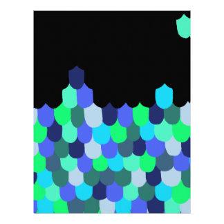 青および緑のスケール レターヘッド