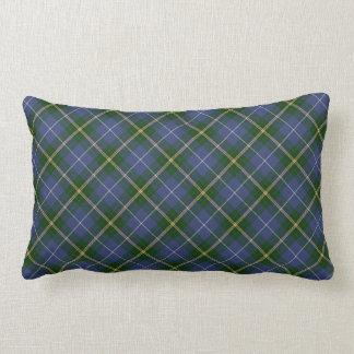 青および緑のタータンチェック格子縞のLumbarの枕 ランバークッション