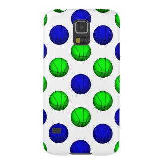 青および緑のバスケットボールパターン GALAXY S5 ケース