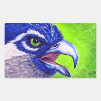 青および緑のミサゴ 長方形シール