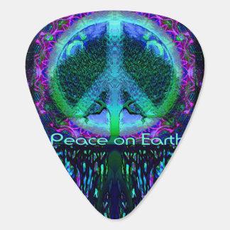 青および緑の地球の平和 ギターピック