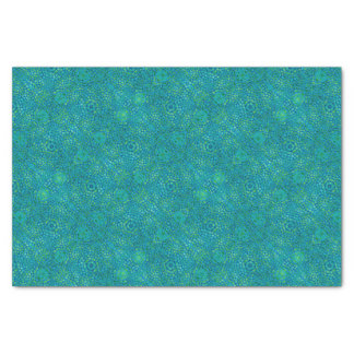 青および緑の抽象的なパターン 薄葉紙