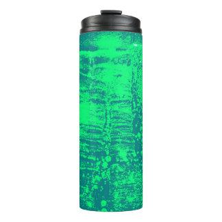 青および緑の芸術的で熱くか冷たい飲み物のキャリア タンブラー