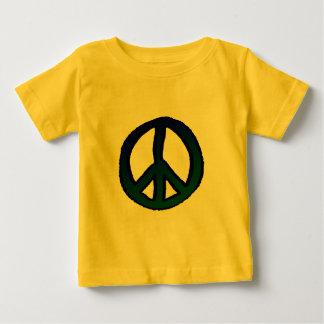 青および緑ピースサイン- ベビーTシャツ