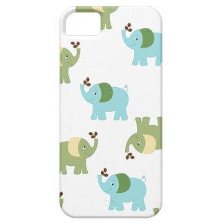 青および緑象のiPhone 5の箱 iPhone SE/5/5s ケース