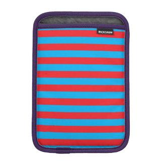 青および赤い横は縞で飾ります iPad MINIスリーブ