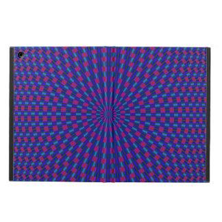 青および赤く幾何学的な円 iPad AIRケース