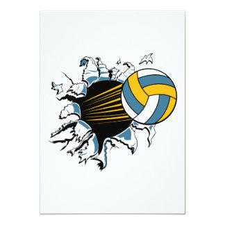青および金ゴールドによって裂けるバレーボール カード