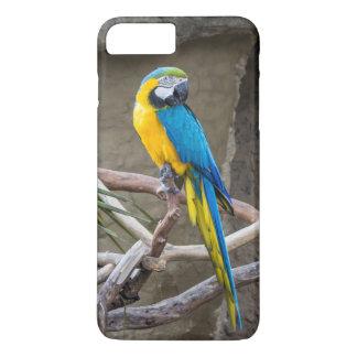 青および金ゴールドのコンゴウインコのiPhoneの場合 iPhone 8 Plus/7 Plusケース