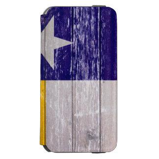 青および金ゴールドのテキサス州の旗の色彩の鮮やかで古い木 INCIPIO WATSON™ iPhone 6 ウォレットケース