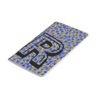 青および金ゴールドの星の団結心のスポーツ色 ポケットジャーナル