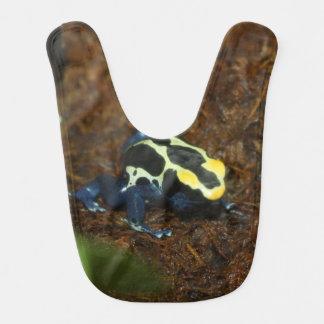 青および金ゴールドの矢の投げ矢のカエル ベビービブ
