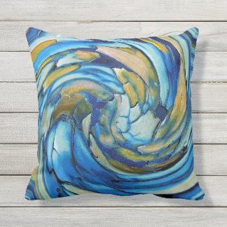 青および金ゴールドはイルカの屋外の枕を抽出します クッション