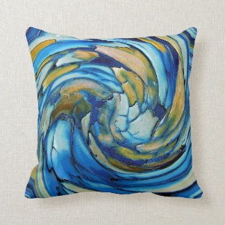 青および金ゴールドはイルカの装飾用クッションを抽出します クッション