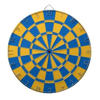 青および金ゴールド ダーツボード