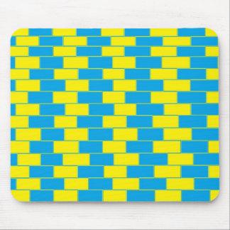 青および黄色のサイケデリックなマウスパッド マウスパッド