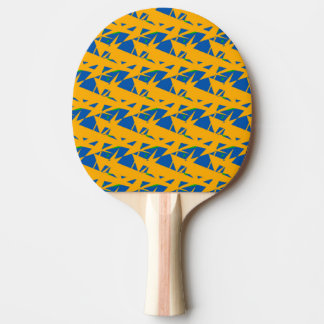 青および黄色の卓球ラケット ピンポンラケット
