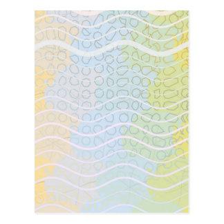 青および黄色の組合せ ポストカード