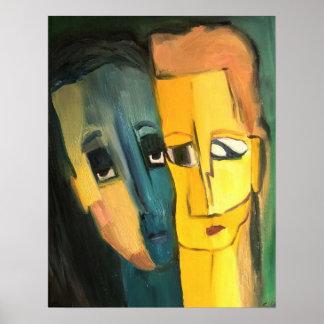青および黄色のBesties ポスター