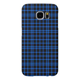 青および黒いタイルパターン SAMSUNG GALAXY S6 ケース