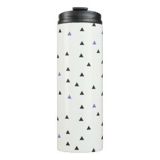 青および黒い三角形のボトル タンブラー