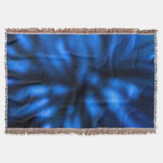 青および黒い抽象美術のアフガニスタン人 スローブランケット