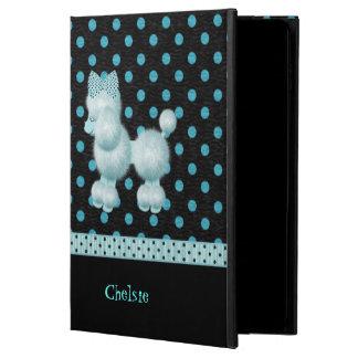 青および黒い水玉模様及びプードルのiPadの空気2箱 Powis iPad Air 2 ケース