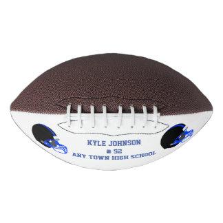 青および黒によってカスタマイズフットボール アメリカンフットボール