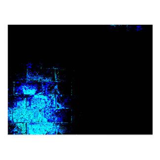 青および黒の壁のイメージ。 デジタルArt. ポストカード