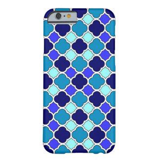 青およびSeafoamの緑のクローバーのiPhone6ケース Barely There iPhone 6 ケース