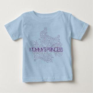 青か紫色のお母さんのプリンセスのペイズリーのTシャツ ベビーTシャツ