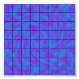 青か紫色のチョコレート・バーの写真のプリント フォトプリント