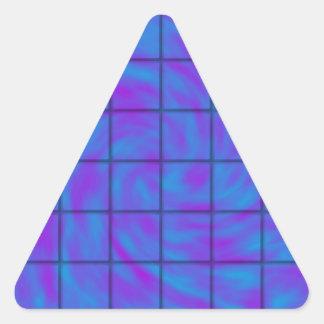 青か紫色のチョコレート・バー 三角形シール