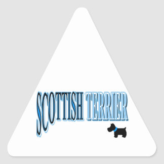 青か黒いスコットランドテリアか白 三角形シール