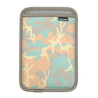 青かOcraまたは灰色かベージュ迷彩柄パターン iPad Miniスリーブ